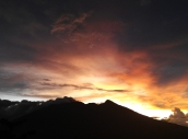 Senja di gunung salak Bogor/Xiaomi redme note