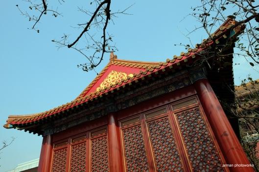 Salah satu bangunan di komplek forbidden city (Fujifilm XT1, lensa Fuji XF 14 mm f 2.8)