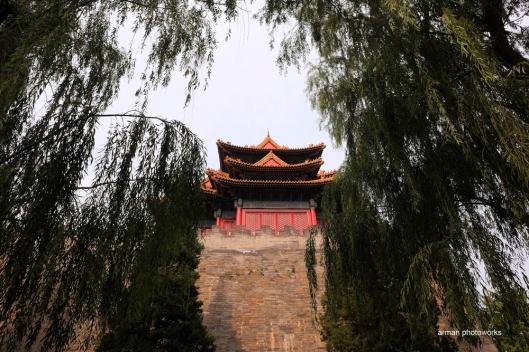 Salah satu bangunan di Forbidden City/Kota teralarang (Fujifim XT1, lensa XF 14 mm f 2.8)